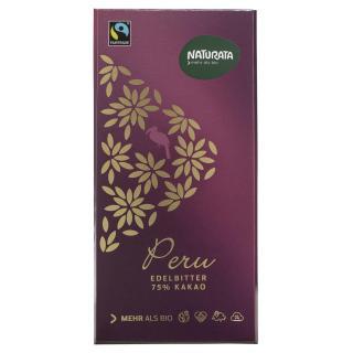 Edelbitterschokolade Perur 75%  kbA