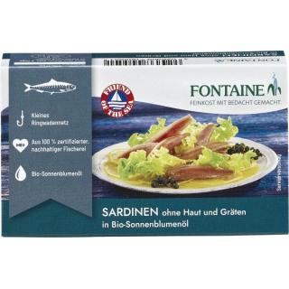 Sardinen ohne Haut und Gräten
