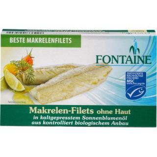 Makrelenfilets ohne Haut und Gräten