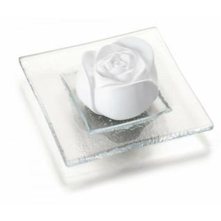 Duftstein Rosenblüte, Glasteller