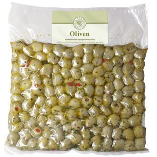 Oliven Paprika gefüllt natur