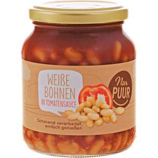 Weiße Bohnen in Tomatensauce  kbA