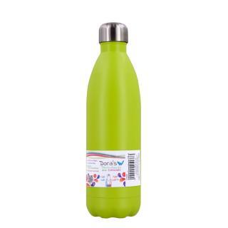 Edelstahl Thermoflasche hellgrün  0,75l