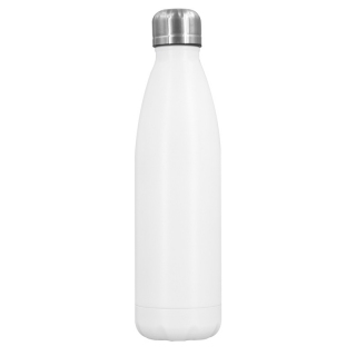 Edelstahl Thermoflasche weiß 0,5l